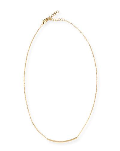 Mini Bar Charm Necklace, Golden
