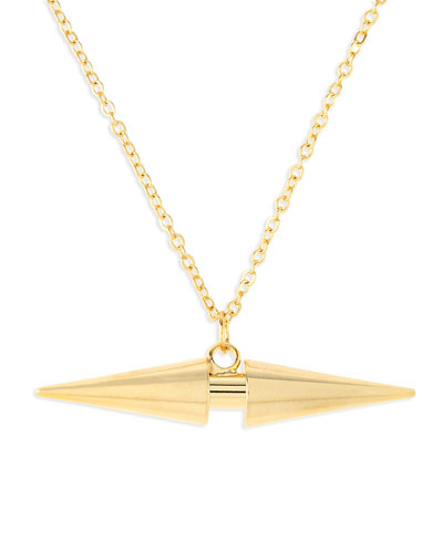 Arrow Dagger Charm Necklace, Golden