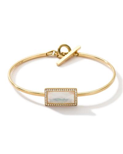 18k Gold Gelato Small Baguette Bracelet with Diamonds