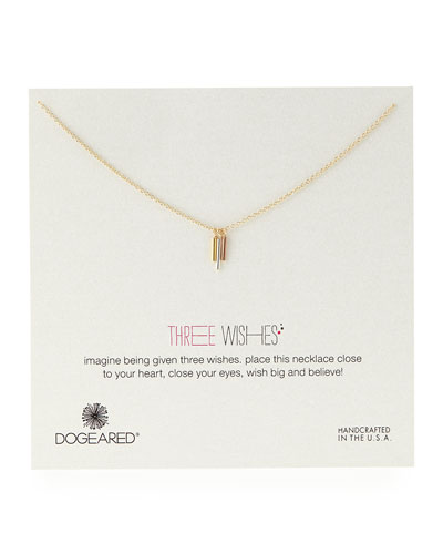 Three Wishes Triple-Tube Necklace
