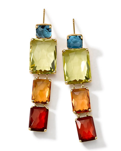 18k Gold Rock Candy Gelato Multi-Stone Drop Earrings