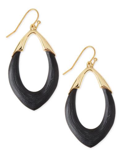 Medium Lucite Orbit Link Drop Earrings (Made to Order), Black