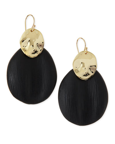 Liquid Chip Wire Lucite Earrings (Made to Order), Black