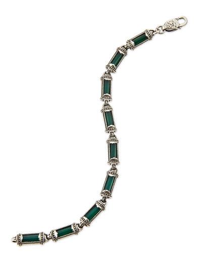 Ismene Green Agate Bracelet