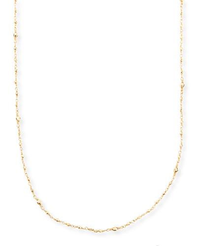 14k Gold-Beaded Station Necklace, 34