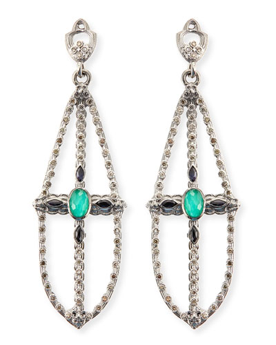 New World Elongated Pear Chandelier Earrings