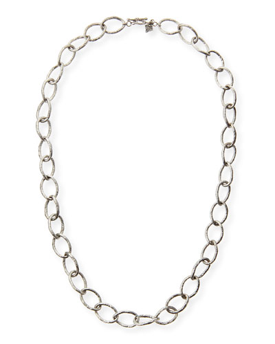 Sterling Silver Twisted Link Necklace, 20