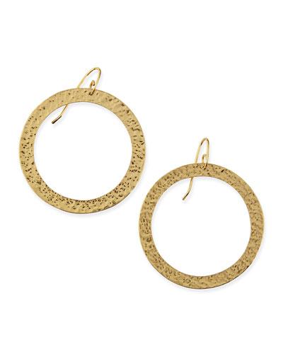 Paris Large Round Bronze Earrings