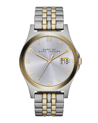 36mm The Slim Two-Tone Watch with Bracelet