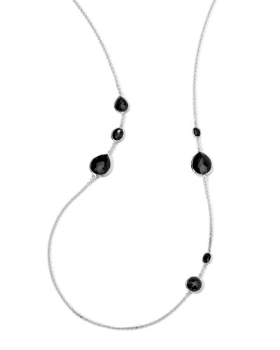 Silver Rock Candy Necklace in Onyx, 33
