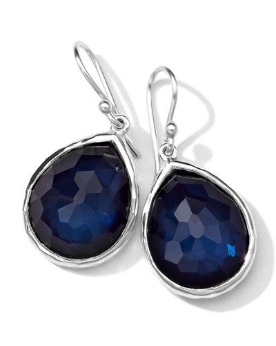 Wonderland Quartz/Pyrite Teardrop Earrings
