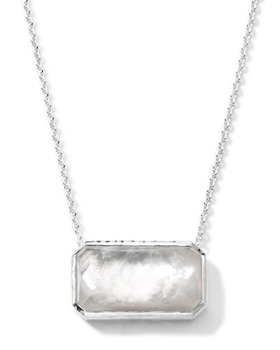 Rectangle Quartz & Mother-of-Pearl Necklace