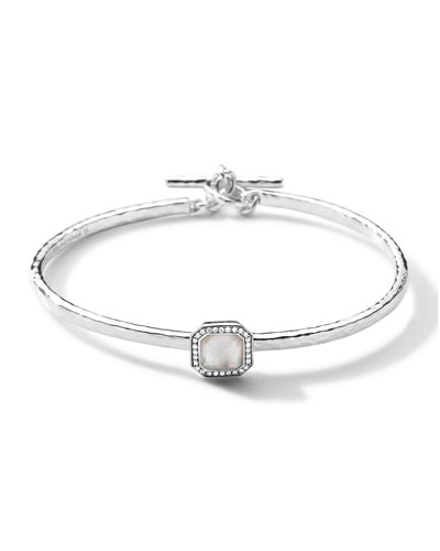 Stella Toggle Bracelet with Mother-of-Pearl Cushion & Diamonds