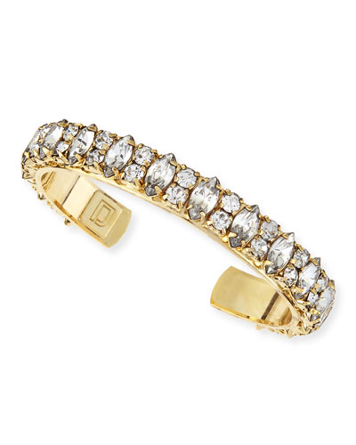Boxerina Alla Antiqued Golden Crystal Cuff