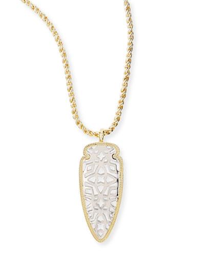 Golden & Rhodium Sienna Pendant Necklace