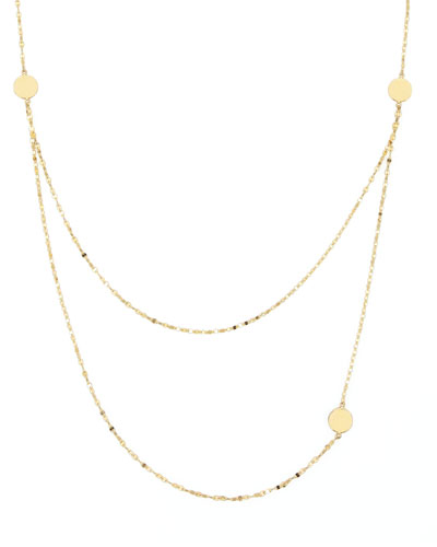 14k Gold Tri-Disc Necklace