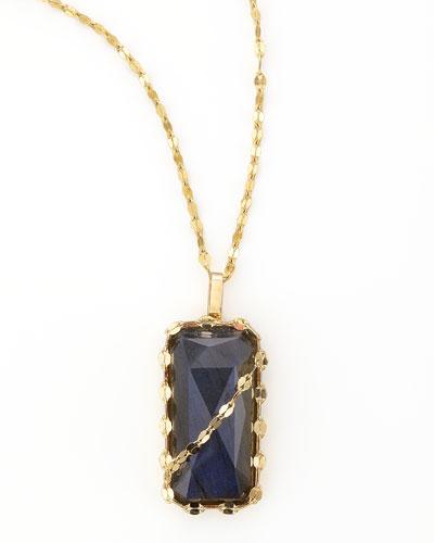 Labradorite Pendant Necklace, 17