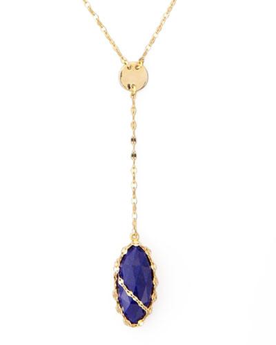 Abra Lapis Drop Necklace