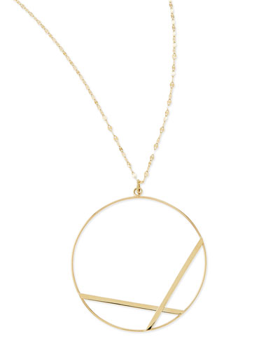 14k Large Affinity Pendant Necklace
