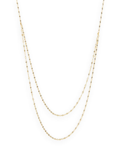 14k Yellow Gold Wave Necklace