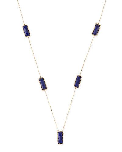 Spellbound Lapis Lariat Necklace
