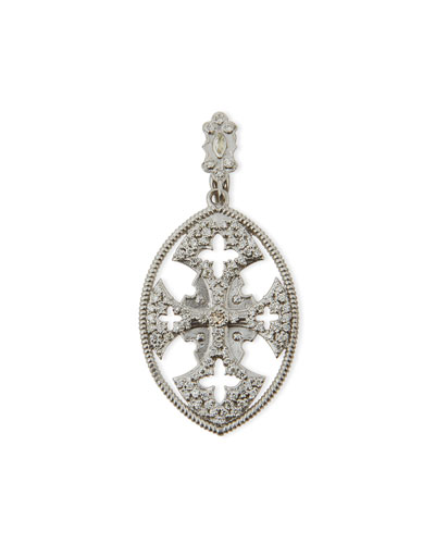 Maltese Cross Enhancer with Sapphires & Diamonds