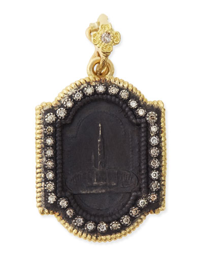 Midnight & Yellow Gold Basilica Enhancer with Diamonds