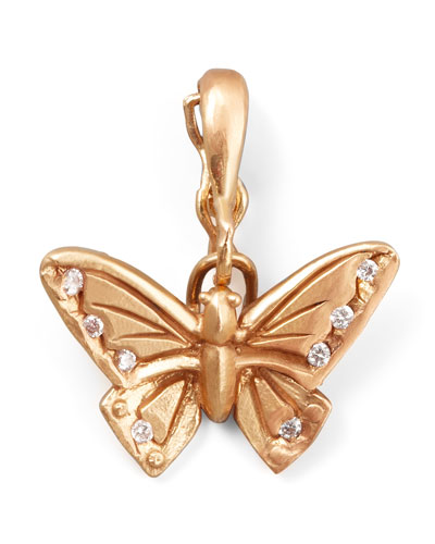 18k Rose Gold Diamond Butterfly Enhancer