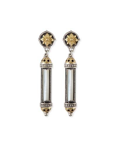 Silver & 18k Gold Mother-of-Pearl Earrings