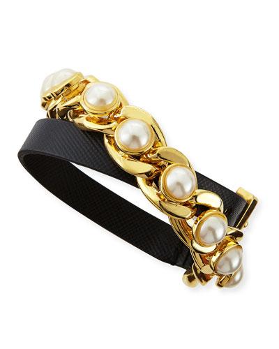 Winchel Pearly Chain Bracelet