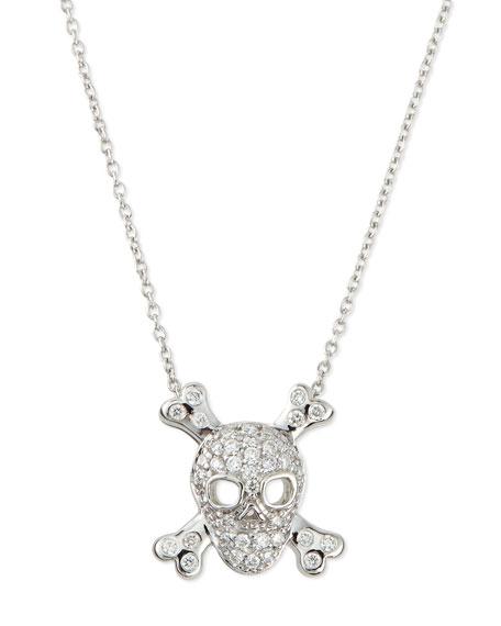Roberto coin 18k white gold diamond skull crossbones necklace 18k white gold diamond skull crossbones necklace aloadofball Gallery