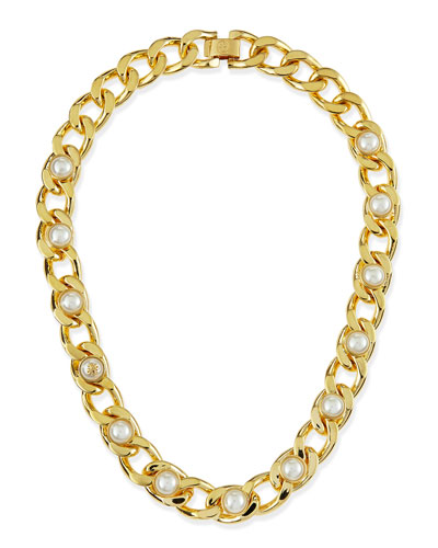 Winchel Pearly Chain Necklace