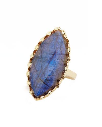 Crystal Marquise Labradorite Ring