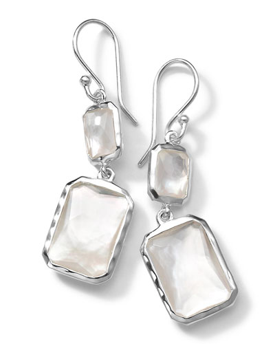 Sterling Silver Wonderland Rectangular Mini-Drop Earrings in ...