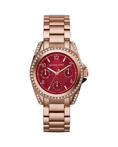 Mini Blair Rose Golden Stainless Steel Watch