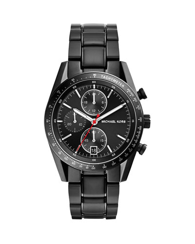 Mid-Size Black Stainless Steel Accelerator Chronograph Watch