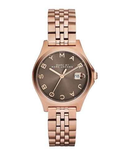 30mm The Slim Bracelet Watch, Rose/Dirty Martini
