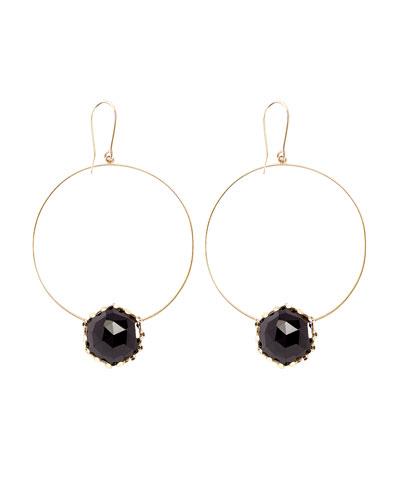 Dusk Rose-Cut Onyx Dangle Earrings
