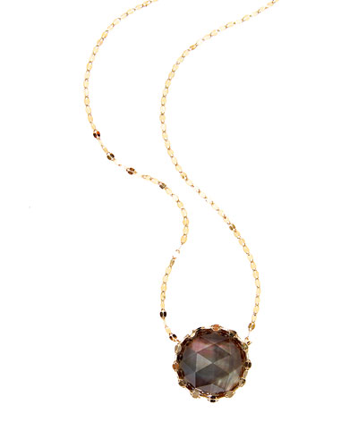 Mystiq Rose-Cut Mother-of-Pearl Pendant Necklace