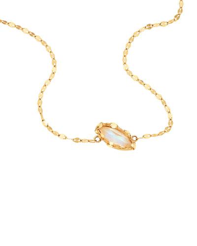 Spellbound Rainbow Moonstone Charm Necklace