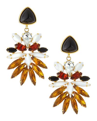 Paradise Topaz & Onyx Earrings