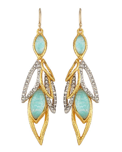 Gilded Muse d'Ore Dangling Leaf Wire Earrings