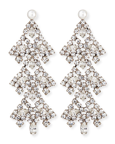 Penny Crystal Chandelier Earrings