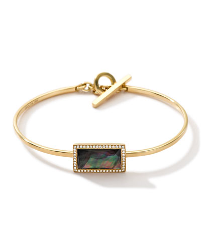 18K Gold Gelato Small Baguette Toglette in Black Shell Doublet with ...