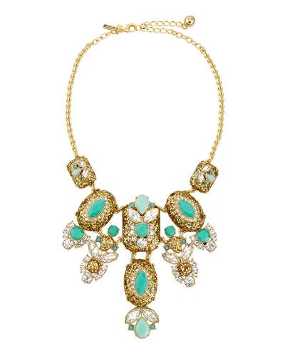glitter statement necklace