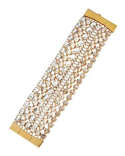 crystal multi-strand bracelet
