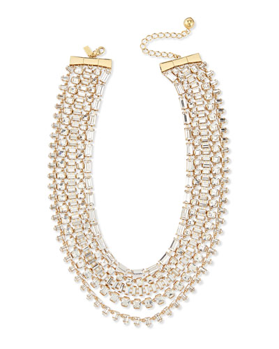multi-strand crystal statement necklace