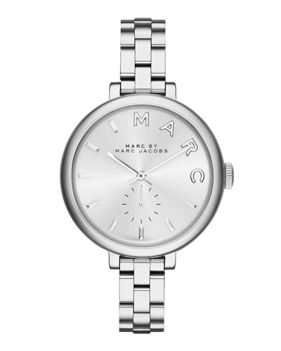 36mm Baker Skinny Bracelet Watch, Silvertone