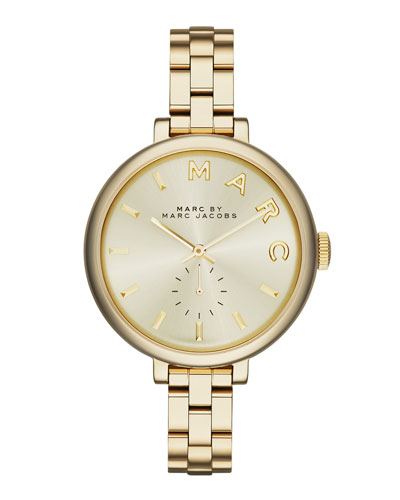 36mm Baker Skinny Bracelet Watch, Golden