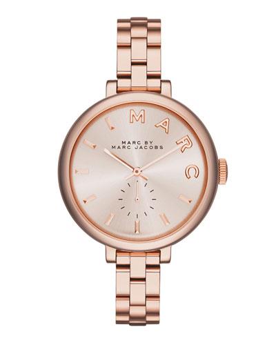 36mm Baker Skinny Bracelet Watch, Rose Golden